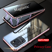 جودة عالية الزجاج المقسى حالة الهاتف خصوصية لسامسونج غالاكسي S21 S20 Ultra S20 S9 ملاحظة 10 زائد 9 8 الغطاء الواقي المغناطيس