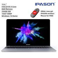 IPASON Dizüstü Bilgisayarlar Intel J4105,15.6 inç, 8GB RAM, 256 GB SSD, Dizüstü Dörtlü Intel Tam Boyutlu Klavye Öğrenci Dizüstü Windows 10