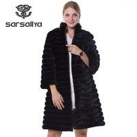 Sarmallya Gerçek Kürk Kadın Kürk Mont Hakiki Deri Stilleri Vizon Coat Moda İnce Kışlık Mont Satmak İyi Natural1