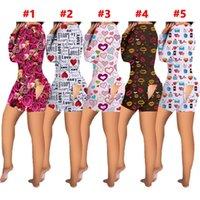 여성 Jumpsuit 디자이너 Tracksuit 섹시한 버튼 뒷면 플랩 잠옷 V 목 원피스 바지 세트 바지 세트 발렌타인 데이 의류 G12002