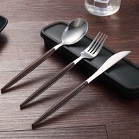 10set lot Wooden handle 304 Stainless Steel Flatware Cutlery...
