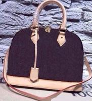 여성 핸드백 쉘 가방 탑 핸들 귀여운 가방 무료 배송 크로스 바디 가방 정품 가죽 디자이너 여성 핸드백 어깨 가방