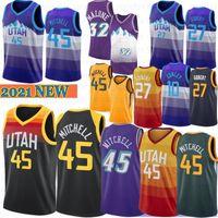 Donovan 45 Mitchell NCAA College Basketball Jerseys Mike 10 Conley Rudy 27 Gobert Karl 32 Malone John 12 Stockton 2021