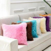 Federa peluche Furry imitazione cashmere morbido casa comodo cuscino copertura soggiorno divano sofà cuscino domestico copertura DDF3146