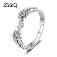 Обручальные кольца Zyzq маленькие свежие сладкие отверстия листьев кольцо для женщин Net красная оливковая ветвь хвост1