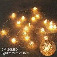 Luces de Navidad 2m 20LED LED Copos de nieve Luces de cadena para el hogar Patio Sala de jardín Decoración de Navidad Decoraciones de árbol de Navidad HH9-3685