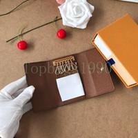 Wholesale ключевой кошелек для мужчин высшего качества многоцветный кожаный короткий кошелек леди шесть ключ держатель женщин мужчины классический карманный ключ карманный