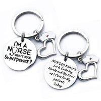 Edelstahl Krankenschwester Keychain Ich bin eine Krankenschwester Stethoskop Schlüsselring Herzförmige Anhänger Nurse Keychain Medical Student Geschenk Schmuck Zubehör