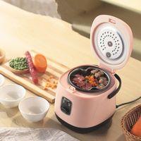 Électroménagers de cuisine 1.2L Mini cuisinière à riz ménage 1-2 personnes Petit dortoir étudiant Électroménagers multifonctionnels à l'ancienne1