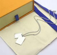 Halskette für Männer Frau Unisex Anhänger Halsketten Mode Stil Schmuck Neu Anhänger Gold Siliver mit Box
