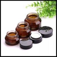 Amber Glass Cosmetic Cream Jar 15G 30G 50 г Уход за кожей Стеклянный Стекло Крем Коликовое Плечо Баночка ISO Одобрение