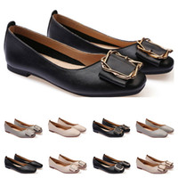 Mesdames Chaussures plates Lager Taille 33-43 Femme Girl Cuir Nude Noir Gris Neuf Arrivel Work Work Mariage Dress Chaussures Vendez-un