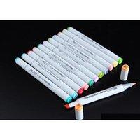 2 세대 Finecolour 마커 펜 Finecolour 펜 스케치 손으로 그린 아트 페인트 펜 선물 가방 펜 6Li로 선택한 160colors