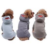 Brasão Pet algodão acolchoado roupas para cachorros espessamento Puppy Dog Costume geral Jumpsuit inverno quente roupa para Pequenas cães médios