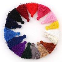 30 unids colorido 25 mm mini borlas de algodón borlas pequeñas para la joyería de Boho Hacer suministros Pulseras Pendientes Pendientes COMPONENTES H JLLFFQ