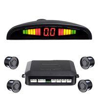 Carbest LED Sensor de estacionamiento Auto ParkTronic con 4 sensores Reversa Backup Aparcamiento Monitor de radar Monitor Sistema Detector Sistema de retroiluminación