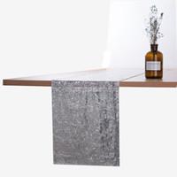 Poliéster cor sólido cor corredor ouro prata lantejoula tabela pano sparkly bling toalha de casamento mesa de toalha de mesa decoração vt1812