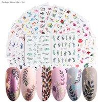 68pcs / set Nail Stickers Valentines manicure Love Letter Sliders Fiore per le unghie Iscrizioni decorazione di arte chiodo Sticker Acqua Tips 0392