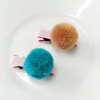 Decoraciones de Navidad Clip de pelo Mini mullido suave Pompones Bola Hecho a mano Niños Juguetes DIY Suministros de Artesanía de Costura1