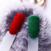 1 låda jul fuzzy flocking sammet nagelpulver färgglada glitter damm vinter uv gel polsk nagel dekoration
