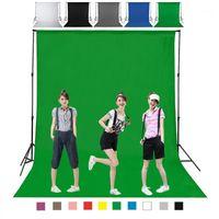 DIY 1m 2m 3m 4m fotografía fondo de fondo pantalla duradera no tejida negro blanco gris azul azul para la opción1