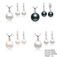 Perlenohrringe Schmuck Sets 10mm Quasten Perlen Halskette Frauen Weiße Hochzeitsgeschenke Mode Ohrstecker Zierlich Heißer Verkauf 1 8QB M2