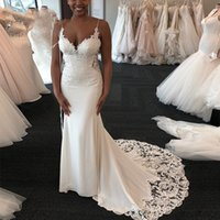 2021 New Charming Mermaid Wedding Dresses African Cross Come Dressed As a Bride IGU4