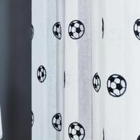 Rideaux de football Brodés enfants rideaux garçons rideaux pour salon chambre à coucher Tulle rideau de voile blanc
