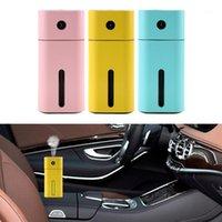 Carfaça de voiture Aroma Essential Huile Diffuseur Mini Ultrasonic Humidificateur Square Humidificateur LED Night Light USB Auto Purificateur d'air Auto Accessoires1