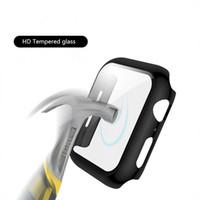 Coperchio PC con vetro temperato Pellicola per Apple Osservare Serie SE 6 5 4 3 della protezione dello schermo della cassa del respingente per iWatch 40 millimetri 44 millimetri 38 millimetri 42 millimetri
