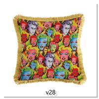 Ankünfte 45 * 45 cm Retro Weiches Kissen Hohe Qualität Dekorative Kissenbezug Sofa Auto Home Textilien Kissenbezug Freies Schiff