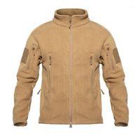 TAD Winter Warm Fleece Chaquetas tácticas hombres a prueba de viento espesar chaquetas de múltiples bolsillos Casual Sudadera con capucha Capa Ropa 1