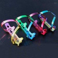 Renkli Bisiklet Su Şişesi Tutucu Yüksek Mukavemetli Alüminyum Alaşım Gökkuşağı MTB Yol Bisikleti Su Şişesi Kafes Bisiklet Aksesuarları1