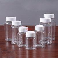 50 unids 15 ml / 20 ml / 30 ml / 100 ml PET PET transparente de plástico Botellas de sello vacío Polvo sólido Medicina Píldora Píldora Vial Contenedor Reactivo Embalaje Botellas de embalaje