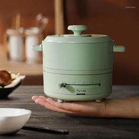 1.5L Cozinha elétrica Pot Split Tipo hotpot dobrável multicooker portátil arroz fogão 4 engrenagem bandeja elétrica com preservação de calor1