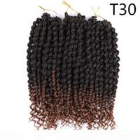 Весна Twist Наращивание волос 14 дюймов Pre Twisted Spring Twist крючок Черного волос Коричневого Ombre крючок косы Hair 75г шт