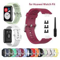 BABLED для часов для Huawei Watch Fit Силиконовые наручные ремешка для замены браслета браслет браслет спортивная женщина человек мягкая корреа