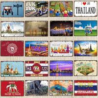 2021 مضحك تايلاند السفر مدينة المشارك توك سيارة تفعل القديم اللوحة المعادن خمر القصدير تسجيل الجدار مطعم المنزل متجر ديكور 30x20 سنتيمتر