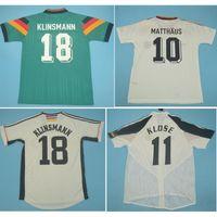 أعلى 1988 1990 1992 ألمانيا الرجعية لكرة القدم الفانيلة 1994 1998 2004 Klinsmann كرة القدم قميص كلوزز جيرسي ماتثوس مايوه