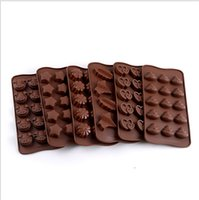 DIY Silicona Rectángulo Moldes Simulación Chocolate Cookie Molde Forma de corazón Star Poder Pattern Easy Demoulding Cocina Herramientas para hornear E121601