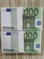 Примечание евро Самые реалистичные Prop Money для Играть в кино Денежные деньги Банк 100 Коллекция Бумага Поддельный Ночной клуб Копировать бизнес 08 RBLIW