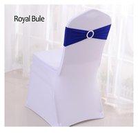 Yryie 50pcs / lot lycra spandex стул крышка sash band с пряжкой для свадьбы день рождения банкетный стул де qyltli
