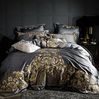 Nuevo 1000TC Conjuntos de ropa de cama de algodón egipcio de 1000tc DUVET Funda de goma Hoja ajustada Funda de almohada 4/6pcs