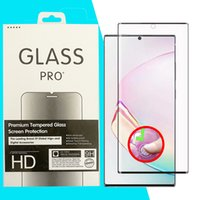 Empreinte digitale No Hole 5D Curved Glass Screen Screen Protector pour Samsung GaxLaxy Note 20 Note20 Ultra S20 S10 Note10 S9 S8 Plus Note8 Note99