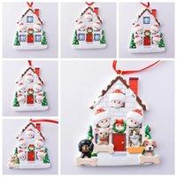 Рождественский орнамент карантин персонализированные выжившие семейные смолы украшения с маской DIY рождественские подвесные подвески LLS383-WLL