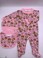 Baby Jungen Mädchen Strampler Designer Kinder Langarm Baumwolle Jumpsuits Säuglingsmädchen Brief Baumwolle Strampler Jungen Kleidung für freies Verschiffen