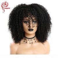 HESPERIS 250 Yoğunluklu Dantel Peruk Ile Bebek Saç Afro Kinky Curl Dantel Ön İnsan Saç Peruk Brezilyalı Remy 13x6 Dantel Ön Peruk