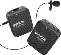 Synco G1 (A1) 2.4 جيجا هرتز نظام ميكروفون لاسلكي Lavalier للهاتف الذكي، الكمبيوتر المحمول، DSLR، الكمبيوتر اللوحي، كاميرا الفيديو، مسجل
