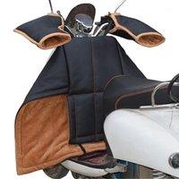 Motocycle Racing Kleidung Elektroauto Black Windschutzscheibe PU Wasserdichte Verdickung Motorrad Kaltbeständiger Abdeckung mit Griffhülsen1