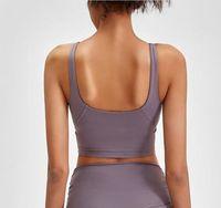 Roupas de ginástica mulheres underwears tanques camis yoga esportes sutiã à prova de choque à prova de fitness exercício de fitness de alta resistência u traseira sexy acolchoado tops colete